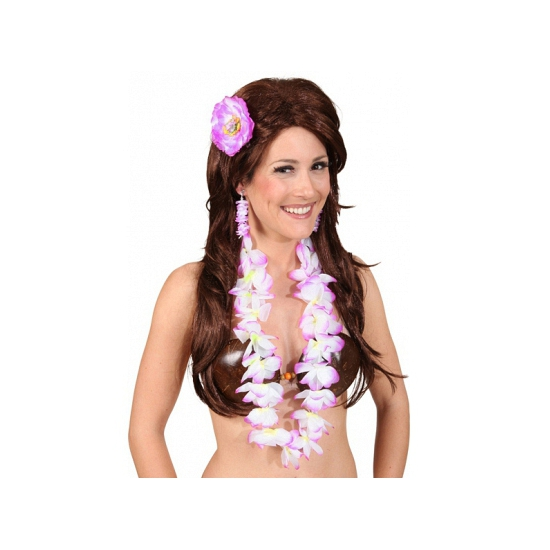 Hawaii kit paars voor dames