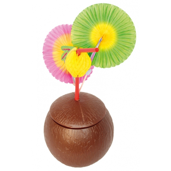 Kokosnoot beker met deksel