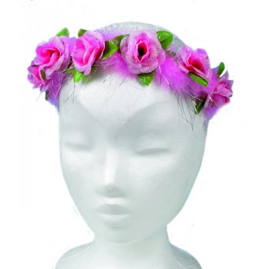 Lichtroze bloemetjes haarband