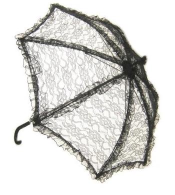 Zwarte vintage paraplu
