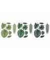 Hawaii decoratie palmboom bladeren 21 stuks