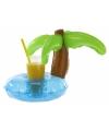 Opblaasbare palmboom beker houder 22 cm